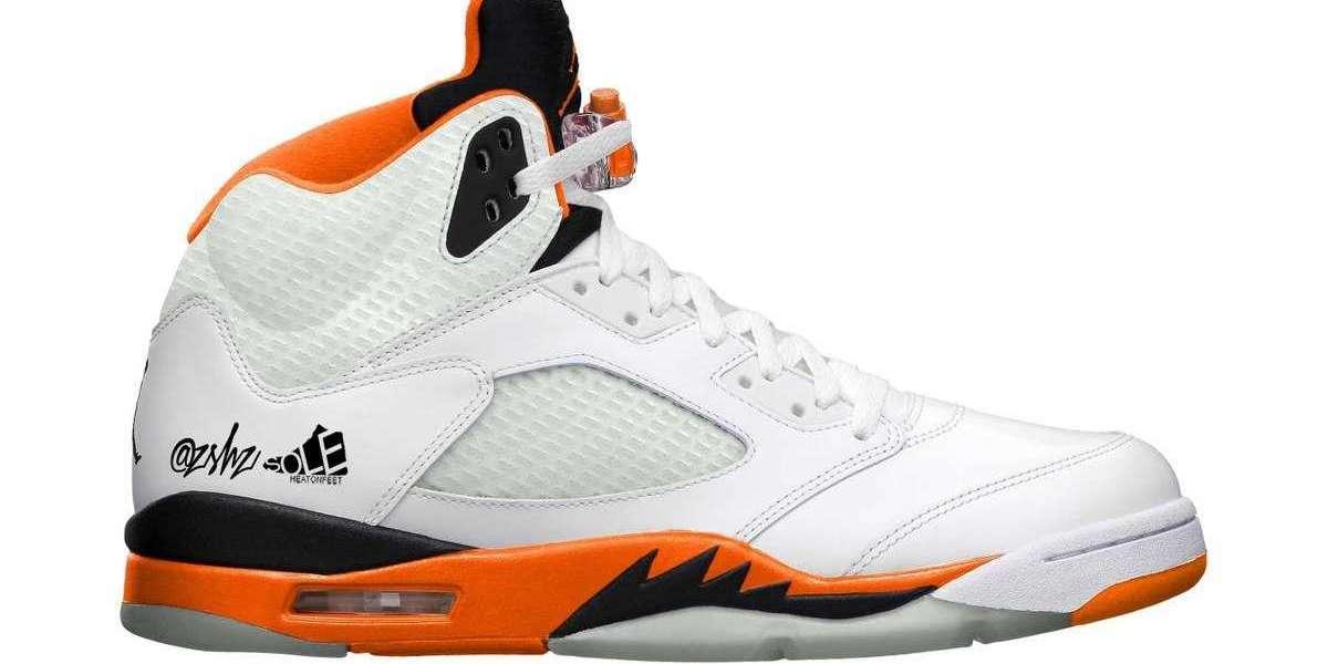 "DC1060-100 Air Jordan 5 ""Orange Blaze"" Basketball Shoes Releasing this week"